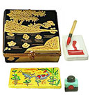 Asian brush painting Limoges box