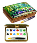 rochard impressionist monet watercolor case with brush