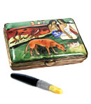 Gaugin paint case Limoges box with brush