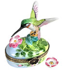 hummingbird at blossoms Limoges box