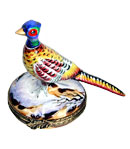 pheasant in snow limoges box