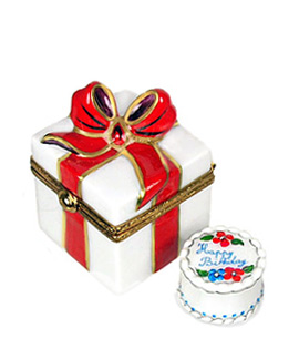 Limoges box birthday cake inside of gift