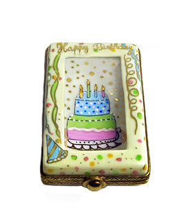 Limoges box birthday card