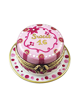 Limoges box Sweet 16 birthday cake from Rochard