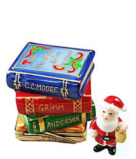 night before christmas and storybooks with Santa Limoges box