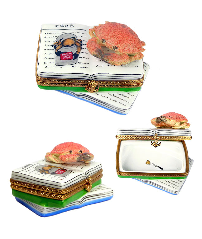 limoges box crab recipe book