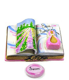 book of lavender limoges box with soap