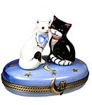 Cats in love Limoges box