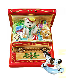 Limoges box Christmas toybox with rocking horse from Rochard