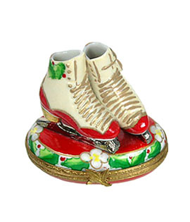Rochard holiday ice skates Limoges box