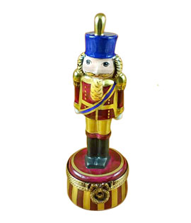 Rochard burgundy nutcracker Limoges box