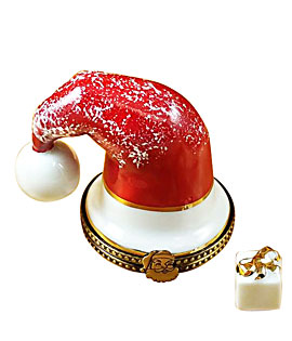 Limoges box Rochard Santa Cap with Gift