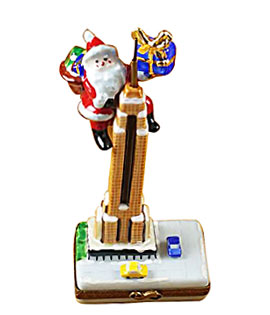 rochard limoges box Santa climbing Empire State Building