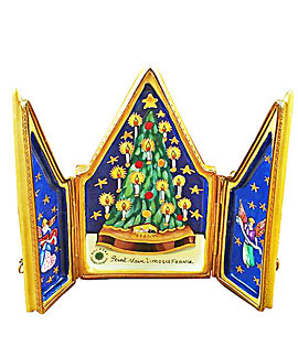 Limoges box Rochard Christmas tree triptych