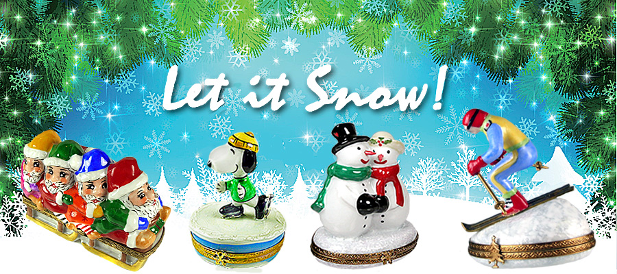 Limoges box banner let it snow
