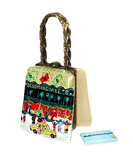 Bloomingdale-s holiday bag with store credit card