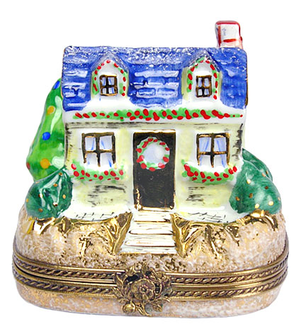 Chamart Christmas cottage Limoges box