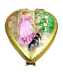 Rochard Victorian Christmas Heart with child limoges box