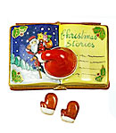 christmas stories book limoges box with santa hat and mittens