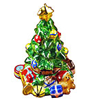 limoges box Christmas tree with toys