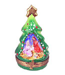 chanille christmas tree with nativity