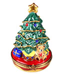 Rochard limoges box Christmas tree with toys