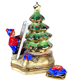 decorate the tree limoges box from Chamart