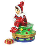 Rochard limoges box Christmas elf with gift