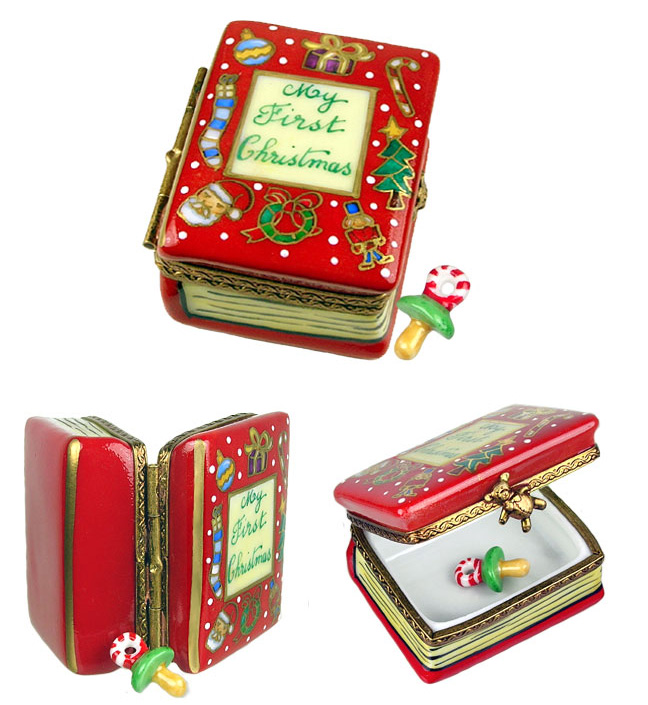 my first Christmas book with pacifier Limoges box