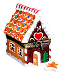 Rochard gingerbread house limoges box