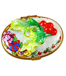 rochard limoges box holly leaves