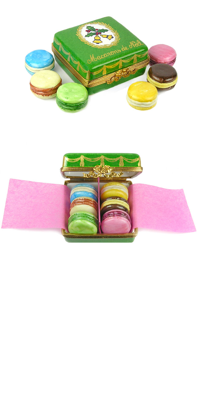 box of six Christmas macarons  Limoges box
