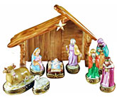 Rochard limoges box Nativity set