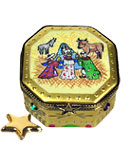 Rochard octaon nativity limoges box with star