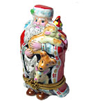 limoges box rochard santa in red robe with animals
