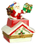 santa on rooftop limoges box