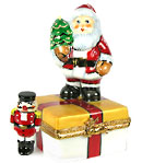 Rochard limoges box on gift with nutcracker