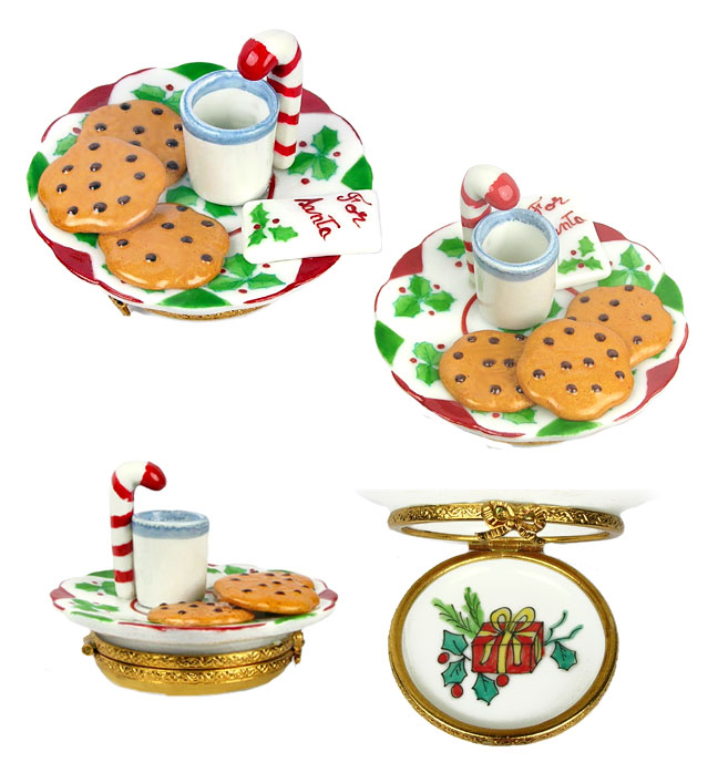 milk and cookies snack for Santa Limoges box