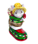 Rochard santa mouse with bell limoges box