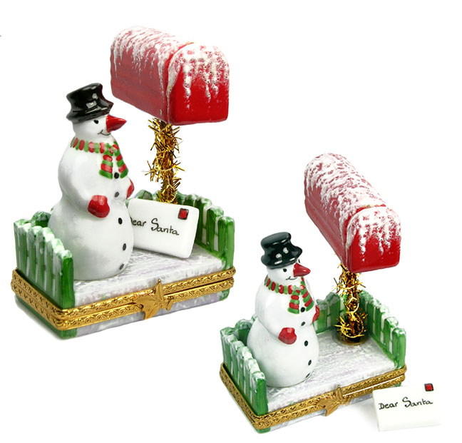 Limofwa box snowman with Christmas letter