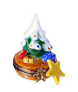small Christmas tree with star Limoges box