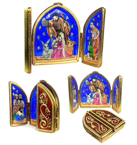 nativity triptych Limoges box