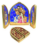 triptych nativity Limoges box