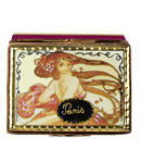 art nouveau lady on Paris Stamp limoges box