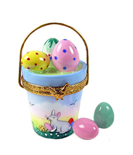 Limoges box Easter eggs in pail