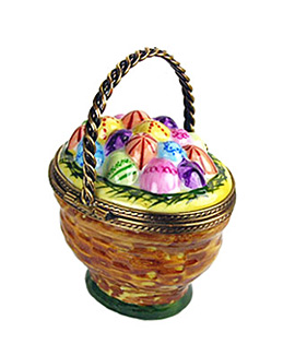 Limoges box Easter basket with eggs