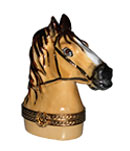 Limoges box horse head