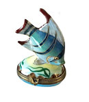 tropical blue fish limoges box