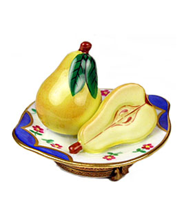 pears on plate limoges box