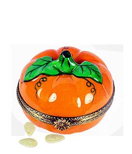 Rochard Limoges box pumpkin with seeds